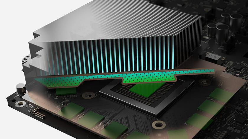 Het koelsysteem van de Xbox One X