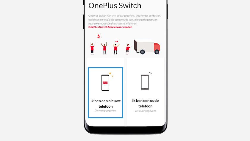 OnePlus Switch nieuwe telefoon