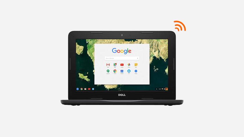 Chromebook connected to the internet.