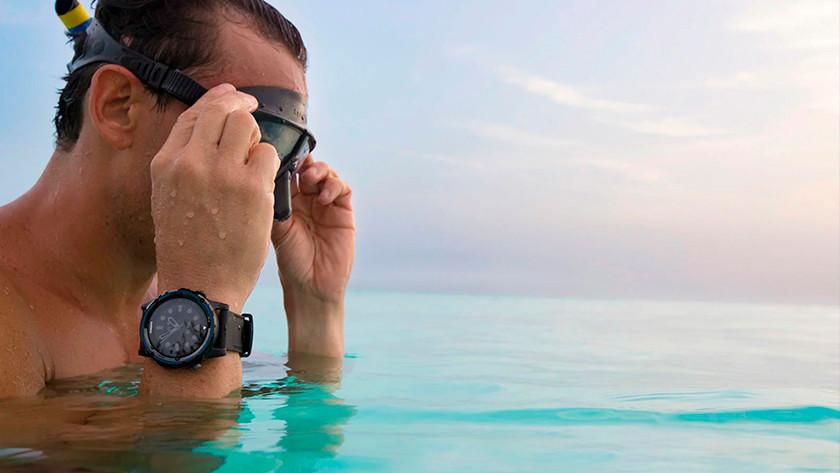 Snorkelen met waterdicht horloge
