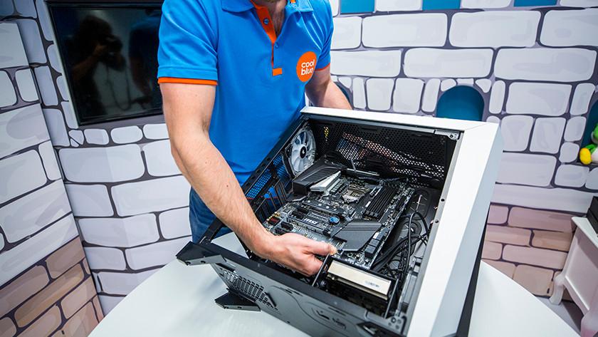 Detaching old motherboard