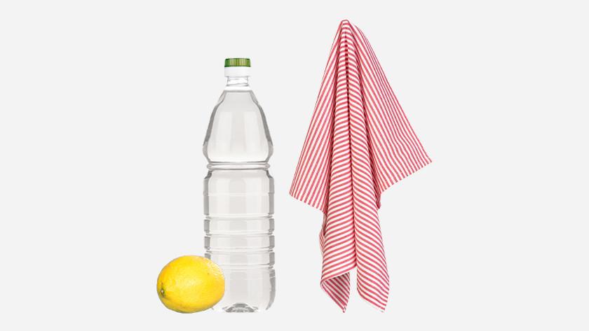 azijn, citroen, theedoek