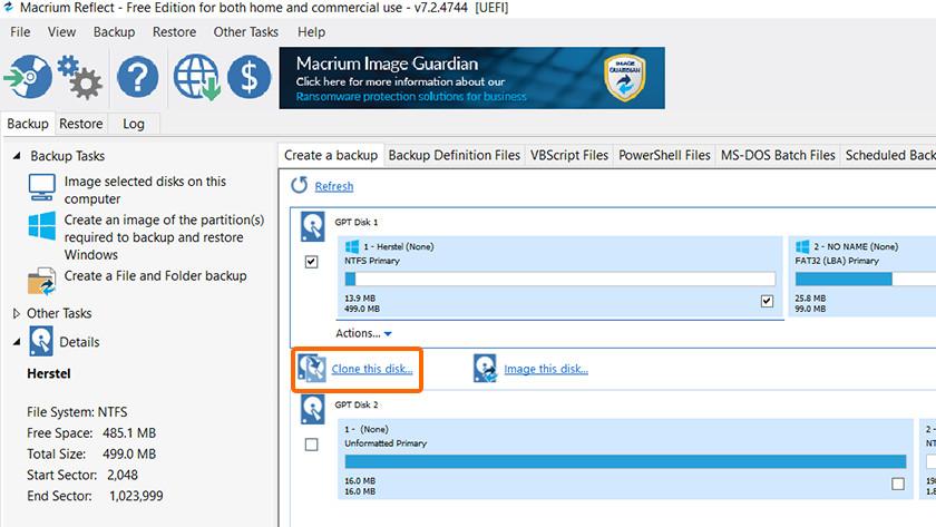 Cloner des données vers votre nouveau SSD