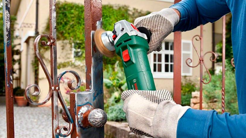 Veilig werken met haakse slijper