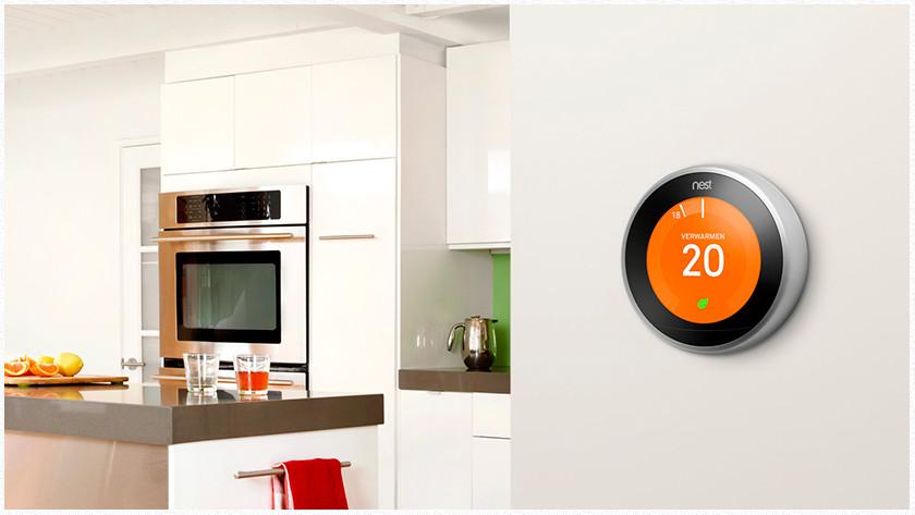 Nest thermostaat en Google Assistant