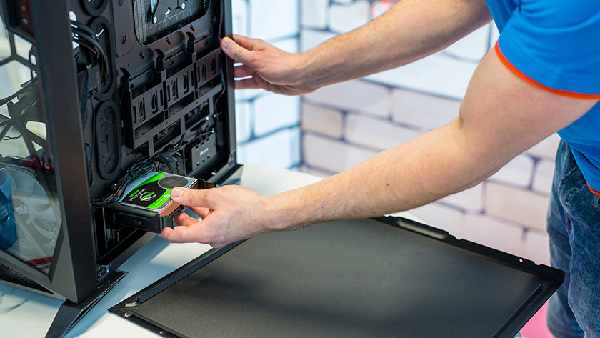 Remove current hard drive