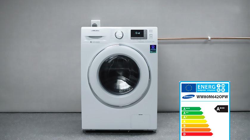 Label énergétique machine à laver Samsung