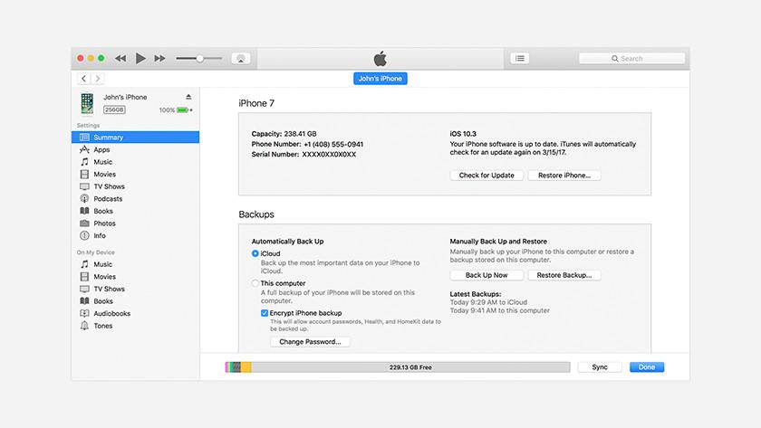 Apple iPhone Backup maken op Apple MacBook