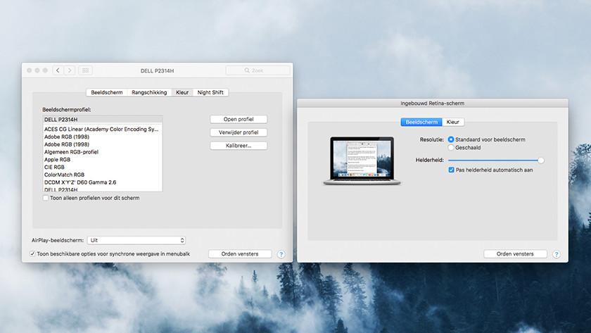 Monitor kalibreren MacOS