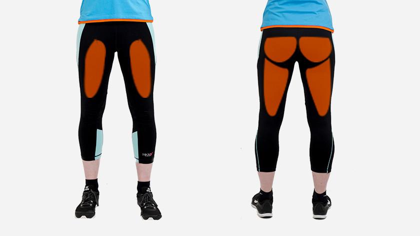 alternating squats spieren bosu bal