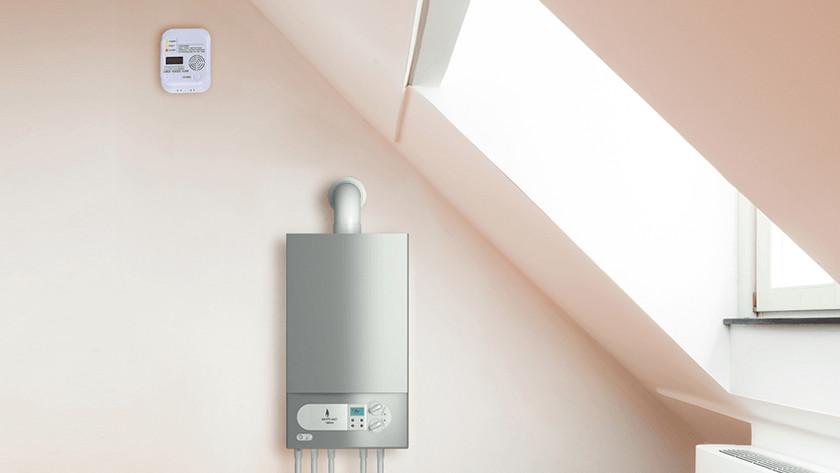 How do you place a carbon monoxide detector?