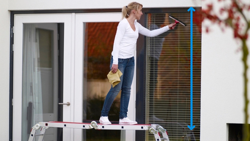 Maximale werkhoogte ladders