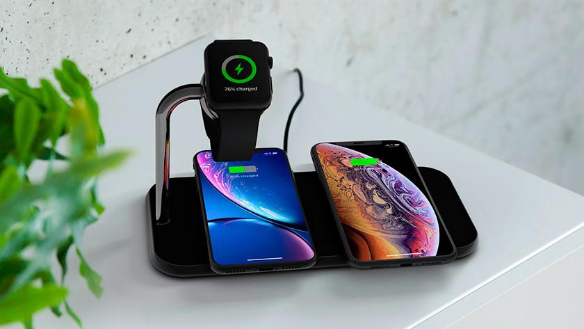 meerdere Apple iPhones en Apple Watch draadloos opladen
