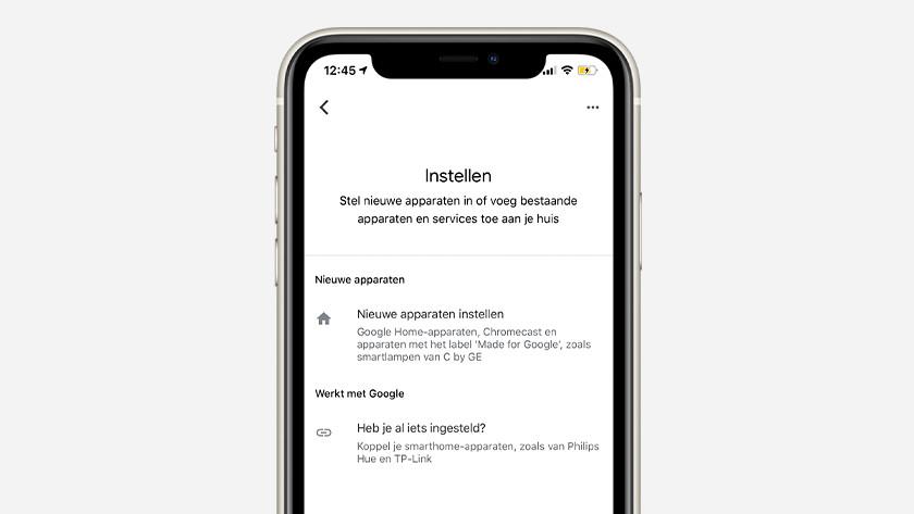Meer apparaten instellen in Google  Home