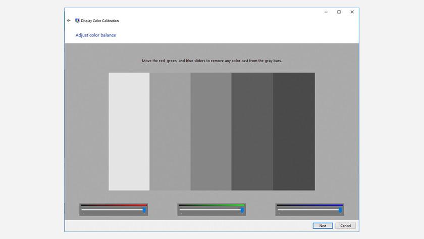 Monitor kalibreren Windows 10