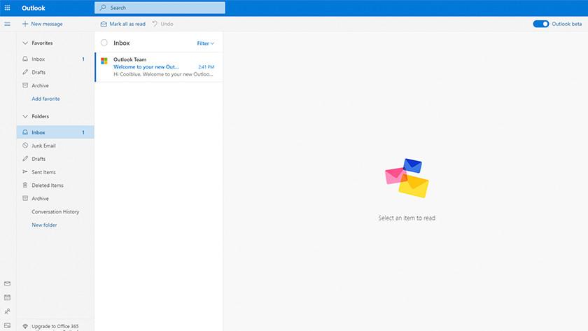 Aan de slag met je Outlook account.