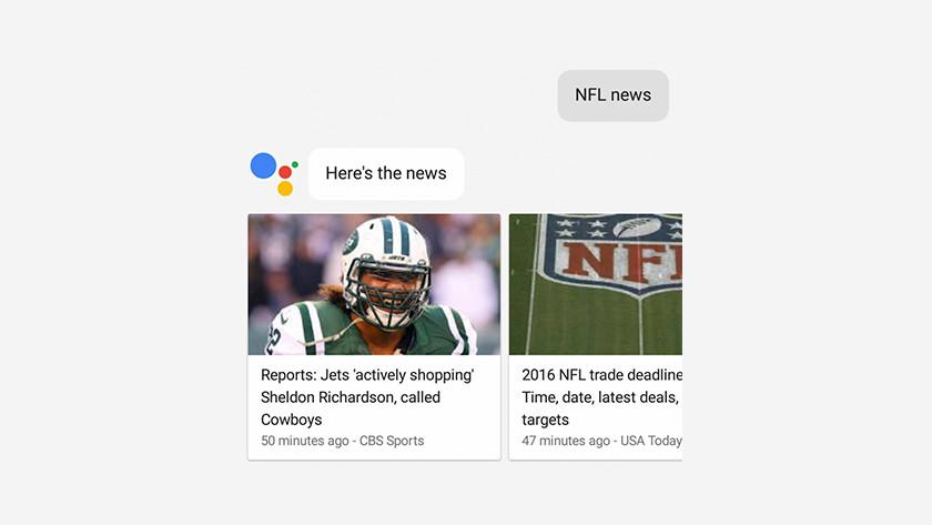 Google Assistent en nieuws