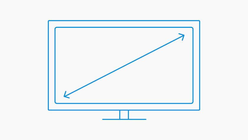 Beeldformaat monitor inch centimeter cm