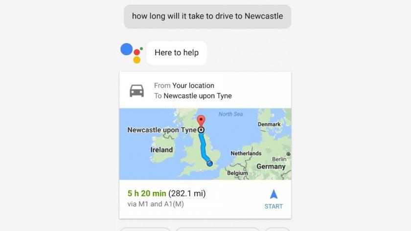 Google Assistent en verkeersinformatie