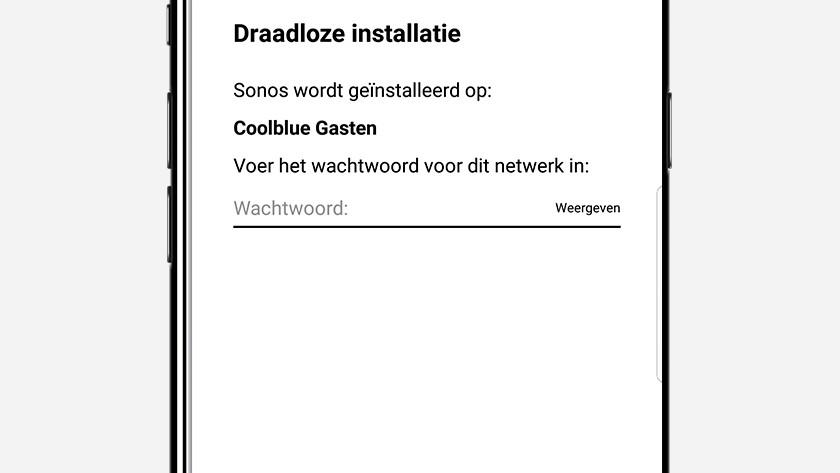 Stap 8: vul het wachtwoord van je wifi netwerk in