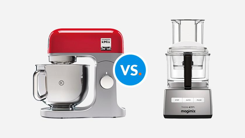 verschil keukenmixer en foodprocessor