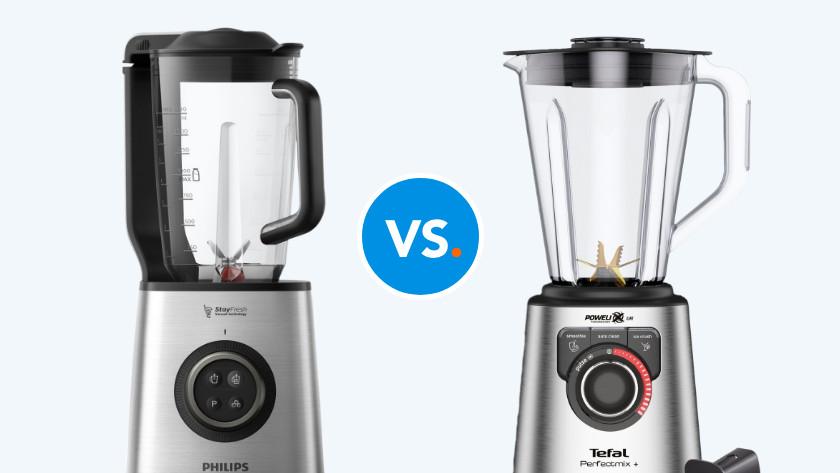 Vacuum blender en gewone blender