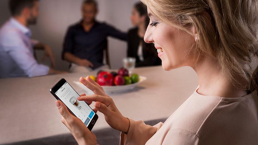 Delonghi prima donna bedienen met app