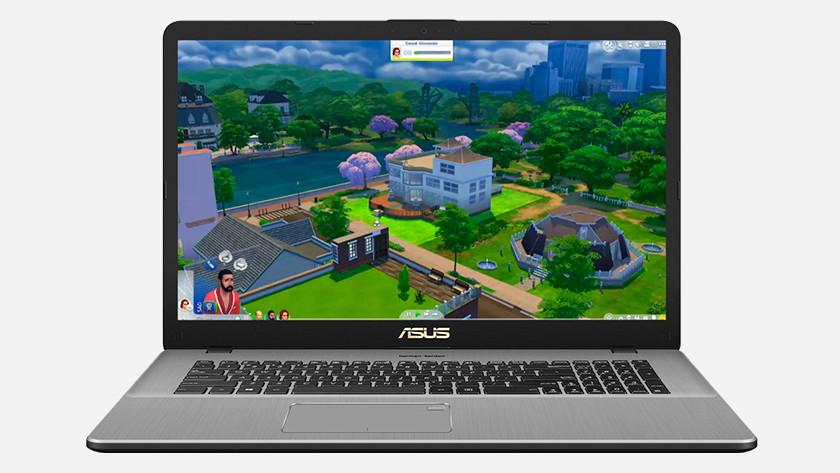 Ordinateur portable Asus avec les Sims 4.