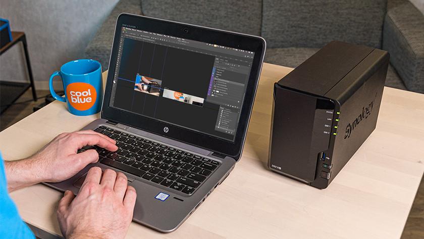 NAS met goede processor en RAM tijdens fotoshoppen