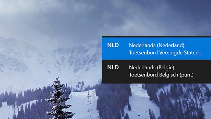 Het toetsenbord instellen op Nederlands op een Windows laptop.