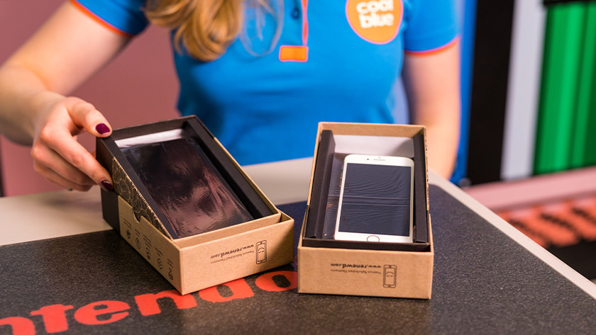 Refurbished iPhone in de doos