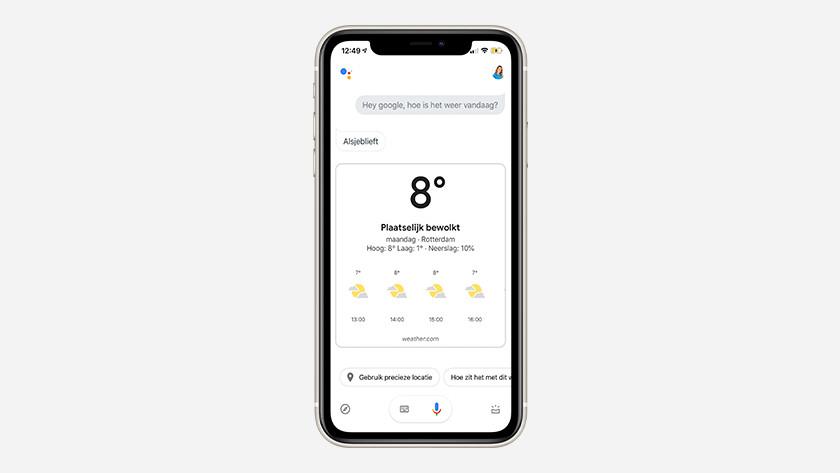 Google Assistant gebruiken