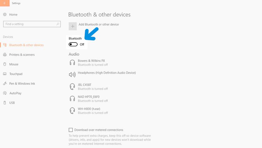 Bluetooth aanzetten