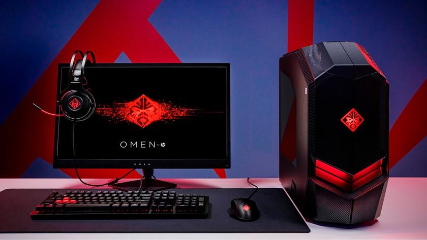 Een gaming desktop met krachtige hardware