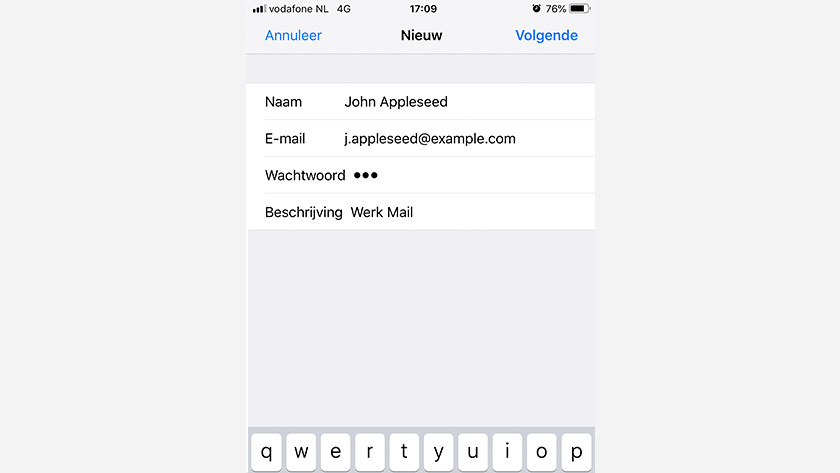 Enter email account manually