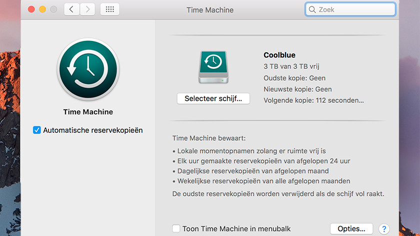 Sauvegarde automatique Apple Time Machine