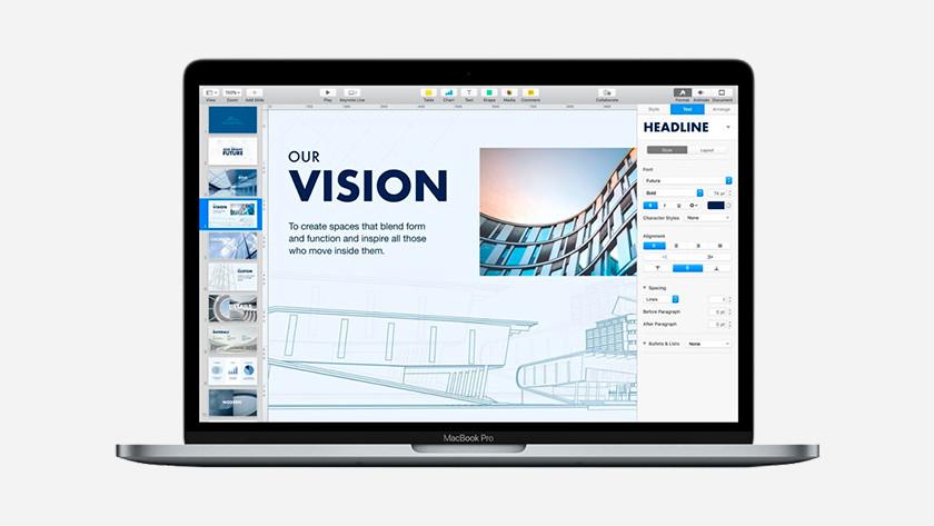 Opslagcapaciteit MacBook