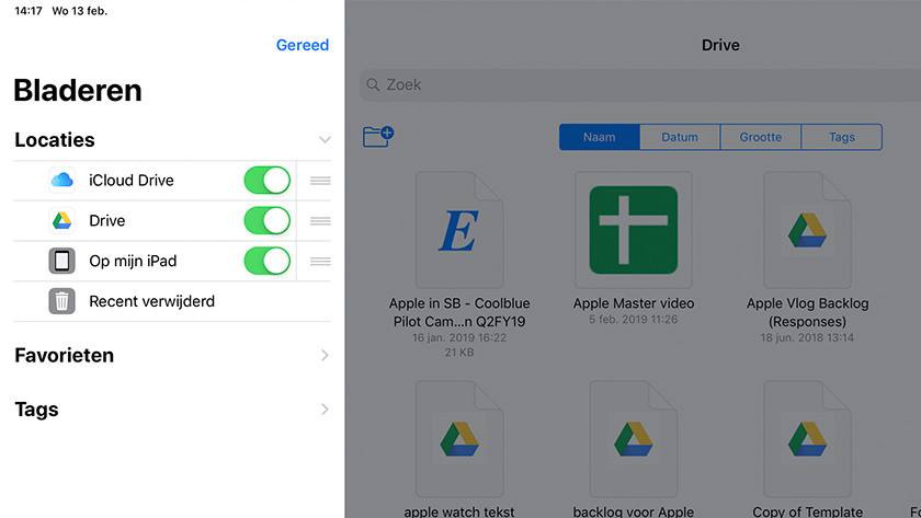 Add apps in the Files app