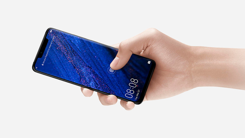 De Huawei Mate 20 Pro vingerafdruk