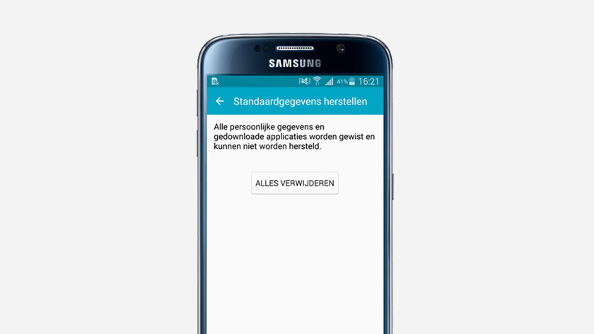 delete all user data Samsung