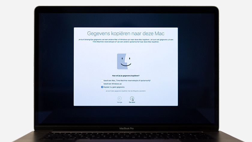 Copier les données vers ce Mac
