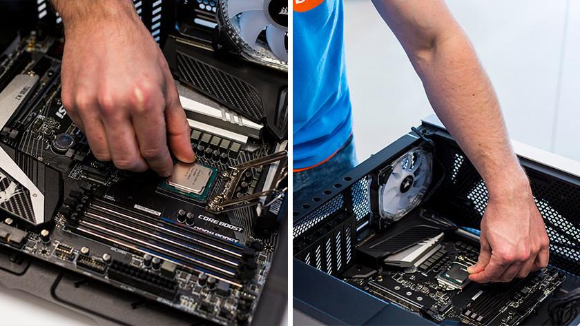 Installeer processor