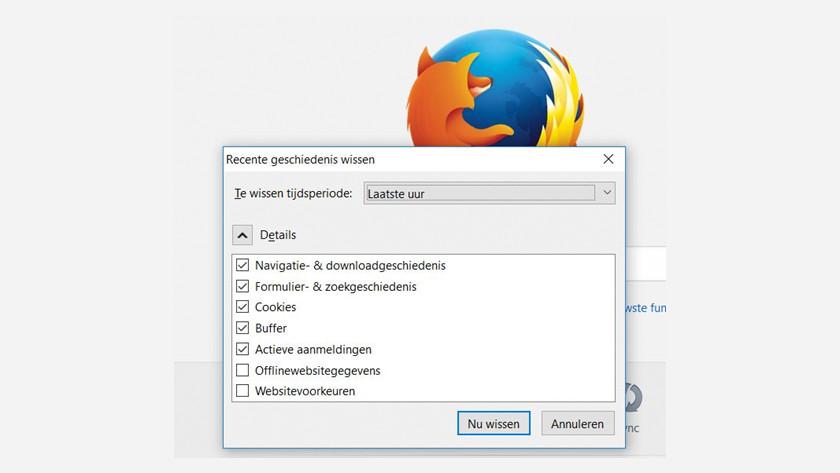 Mozilla Firefox zoekgeschiedenis wissen.