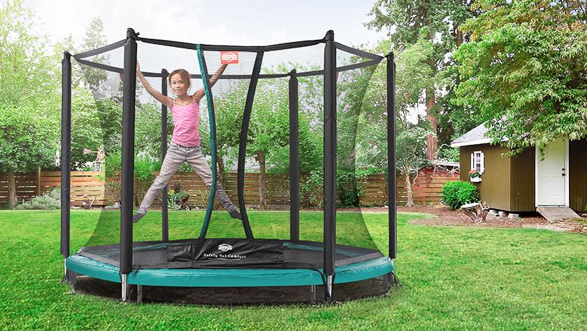 Ruimte onder trampoline