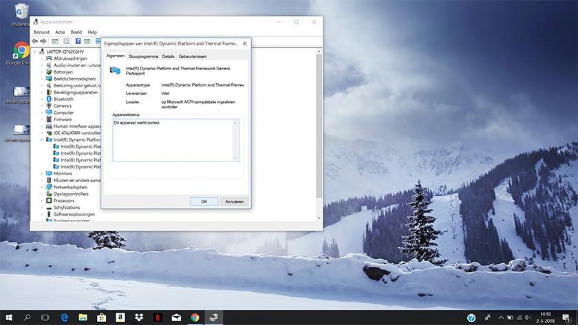 Kijken of stuuprogramma's goed werken op een Windows 10 laptop.