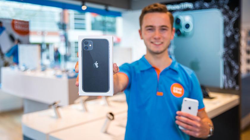 iPhone in de winkel