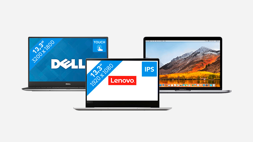 Dell, Lenovo en MacBook ultrabook.