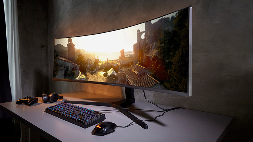 Curved gaming monitor Dell