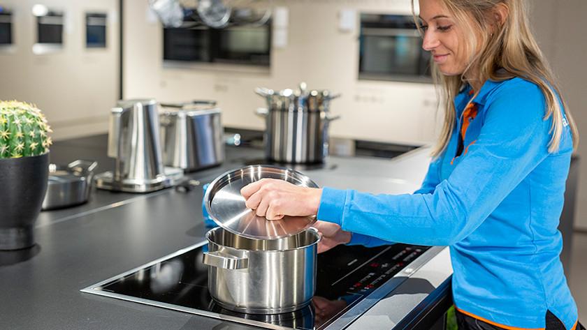 Pan op kookplaat
