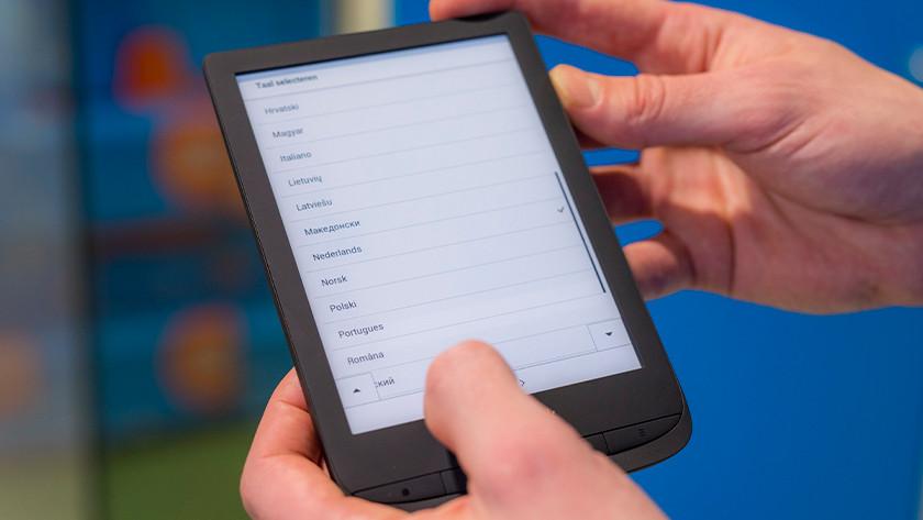 PocketBook taal selecteren